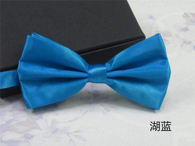 Men's Fashion Silk BowTie-lake blue-JadeMoghul Inc.