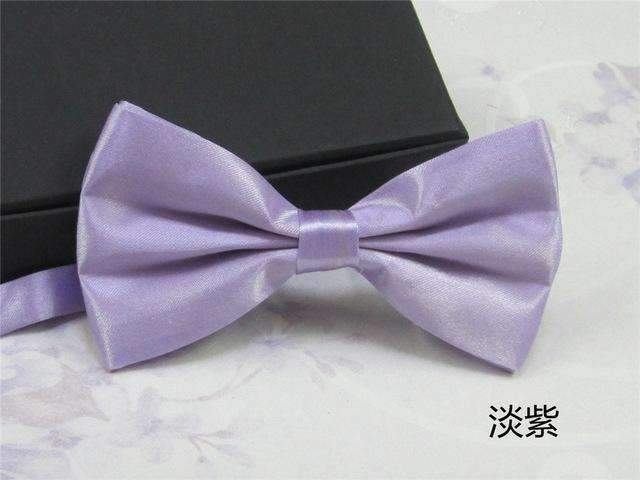 Men's Fashion Silk BowTie-light purple-JadeMoghul Inc.