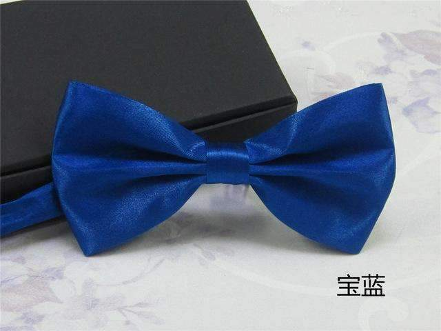 Men's Fashion Silk BowTie-navy blue-JadeMoghul Inc.