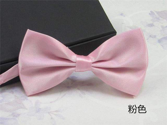 Men's Fashion Silk BowTie-pink-JadeMoghul Inc.