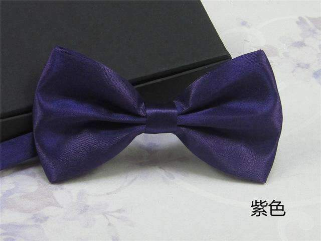 Men's Fashion Silk BowTie-purple-JadeMoghul Inc.