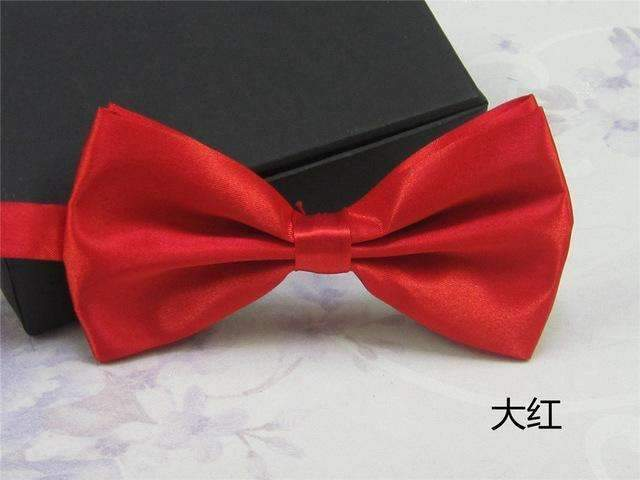 Men's Fashion Silk BowTie-red-JadeMoghul Inc.
