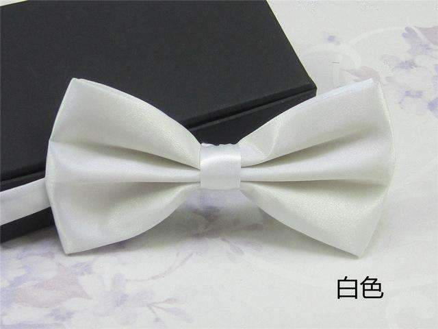 Men's Fashion Silk BowTie-white-JadeMoghul Inc.