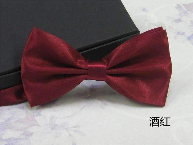 Men's Fashion Silk BowTie-wine red-JadeMoghul Inc.