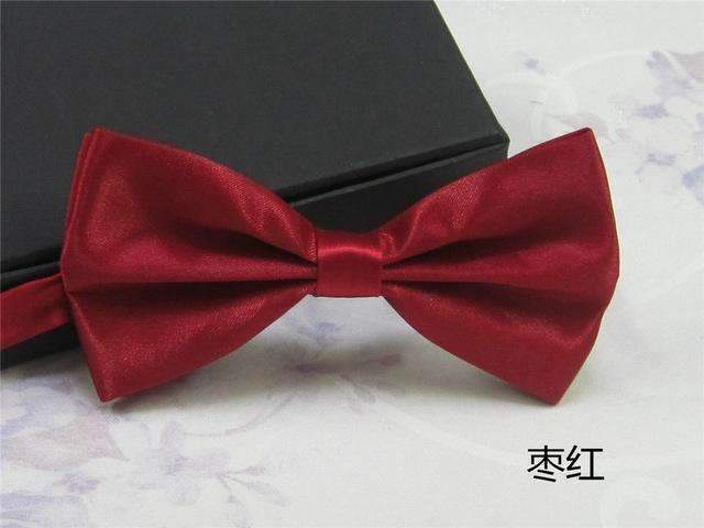 Men's Fashion Silk BowTie-zao red-JadeMoghul Inc.