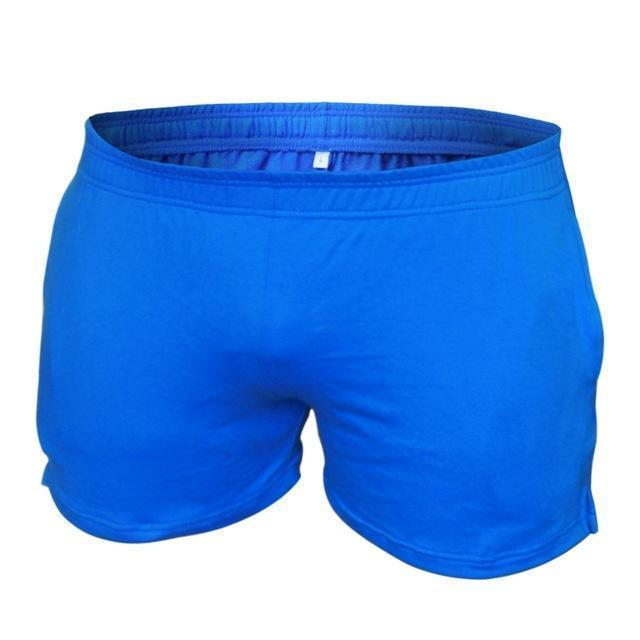 "Men's Gyms Shorts With Pockets Bodybuilding Clothing Men Golds Athlete Fitness Bermuda Weight Lifting Workout Cotton 5"" Inseam-Plain Blue 3 inseam-XL-JadeMoghul Inc."