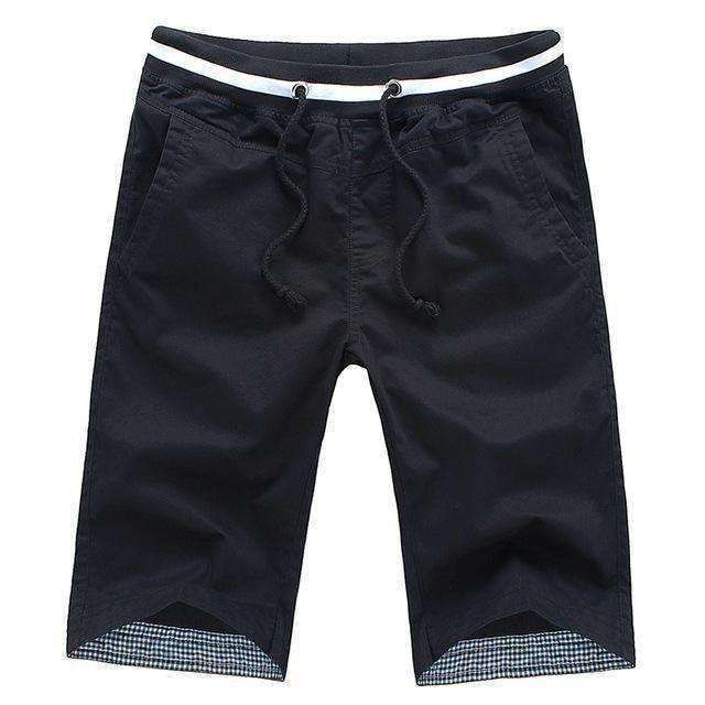 Men's Knee-length Shorts-black-M-JadeMoghul Inc.
