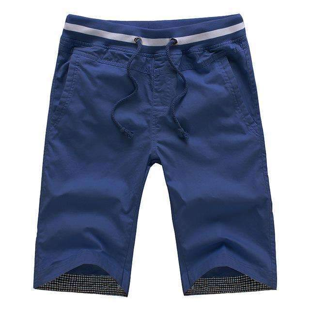 Men's Knee-length Shorts-dark blue-M-JadeMoghul Inc.
