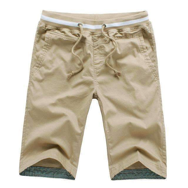 Men's Knee-length Shorts-khaki-M-JadeMoghul Inc.