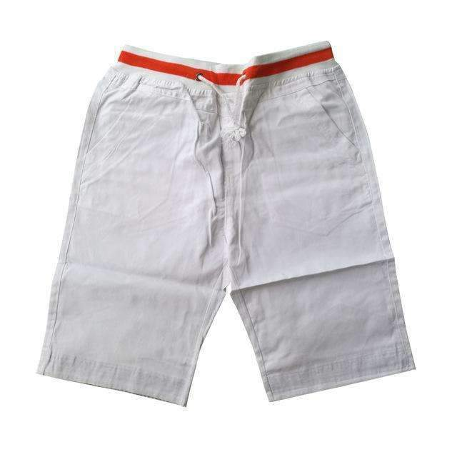 Men's Knee-length Shorts-white-M-JadeMoghul Inc.