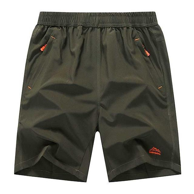 Mens Zip Pocket Shorts Loose Elastic Waist Summer Beach Boardshorts Gasp Casual Shorts Men Big Plus Size 6XL 7XL 8XL 9XL 10XL-Army Green Red Brand-XL-JadeMoghul Inc.