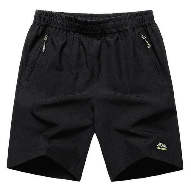 Mens Zip Pocket Shorts Loose Elastic Waist Summer Beach Boardshorts Gasp Casual Shorts Men Big Plus Size 6XL 7XL 8XL 9XL 10XL-Black Green Brand-XL-JadeMoghul Inc.
