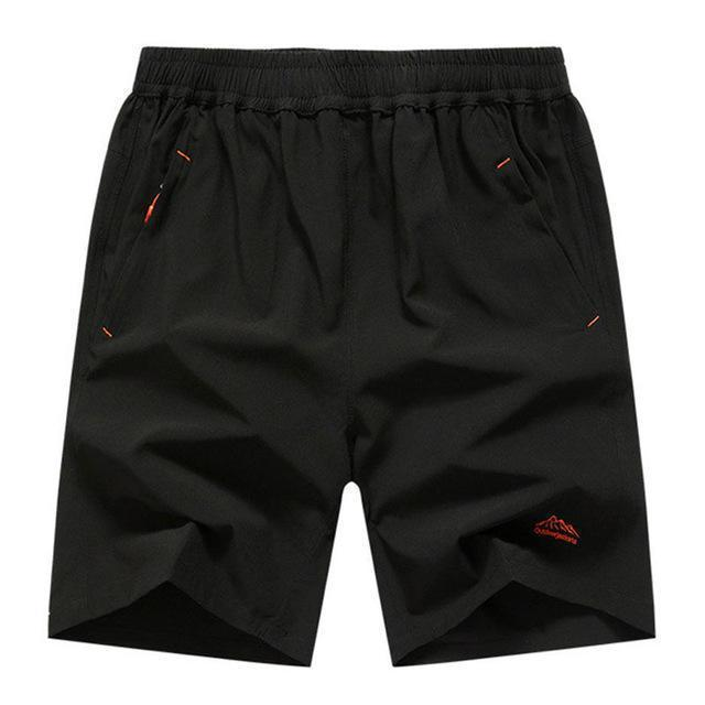 Mens Zip Pocket Shorts Loose Elastic Waist Summer Beach Boardshorts Gasp Casual Shorts Men Big Plus Size 6XL 7XL 8XL 9XL 10XL-Black Red Brand-XL-JadeMoghul Inc.