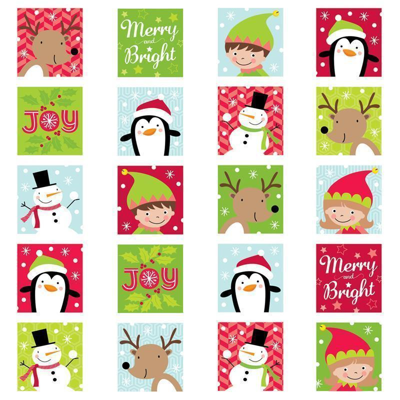 MERRY & BRIGHT STICKERS-Learning Materials-JadeMoghul Inc.