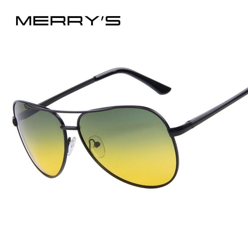 MERRY'S Men Polaroid Sunglasses Night Vision Driving Sunglasses 100% Polarized Sunglasses AExp