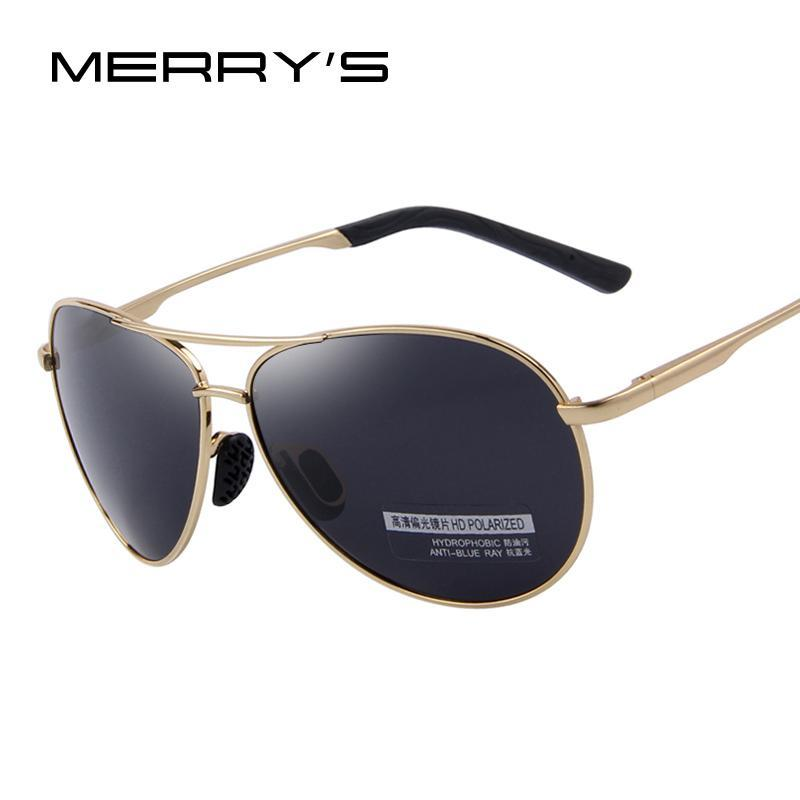 MERRY'S Fashion Men's UV400 Polarized Sunglasses Men Driving Shield Eyewear Sun Glasses-C01 Black-JadeMoghul Inc.