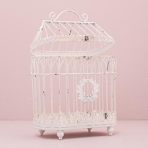 Metal Bird Cage - Conservatory Style (Pack of 1)-Table Top Décor-JadeMoghul Inc.