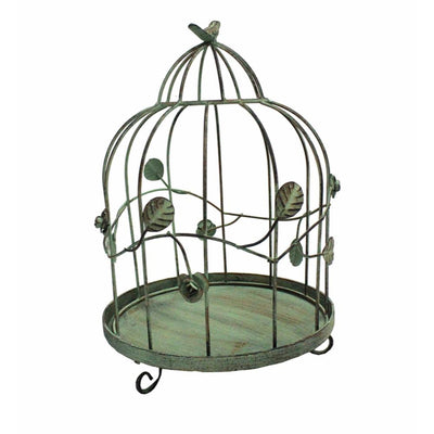 Metal Bird Cage For Garden decoration, Turquoise