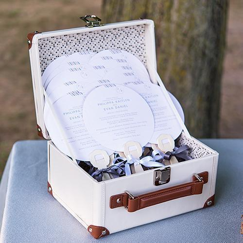 Mini Suitcase Wishing Well (Pack of 1)-Wedding Reception Accessories-JadeMoghul Inc.