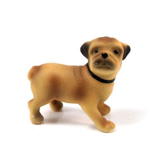 Miniature Pug Dog Figurines (Pack of 1)-Wedding Cake Toppers-JadeMoghul Inc.