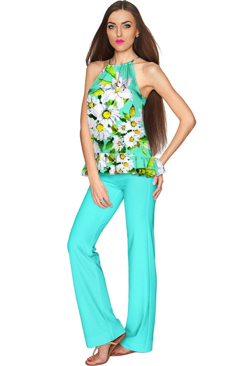 Mint Flower Party Angela Chic Set - Women-Flower Party-JadeMoghul Inc.