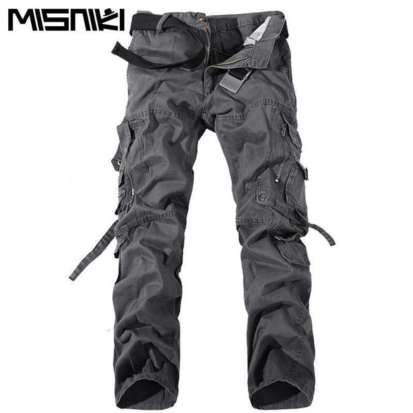 MISNIKI 2017 New Army Military Camouflage Overalls Bags Pants Overalls Big Yards Men Camo Combat Work Trousers Overalls-Black-28-JadeMoghul Inc.