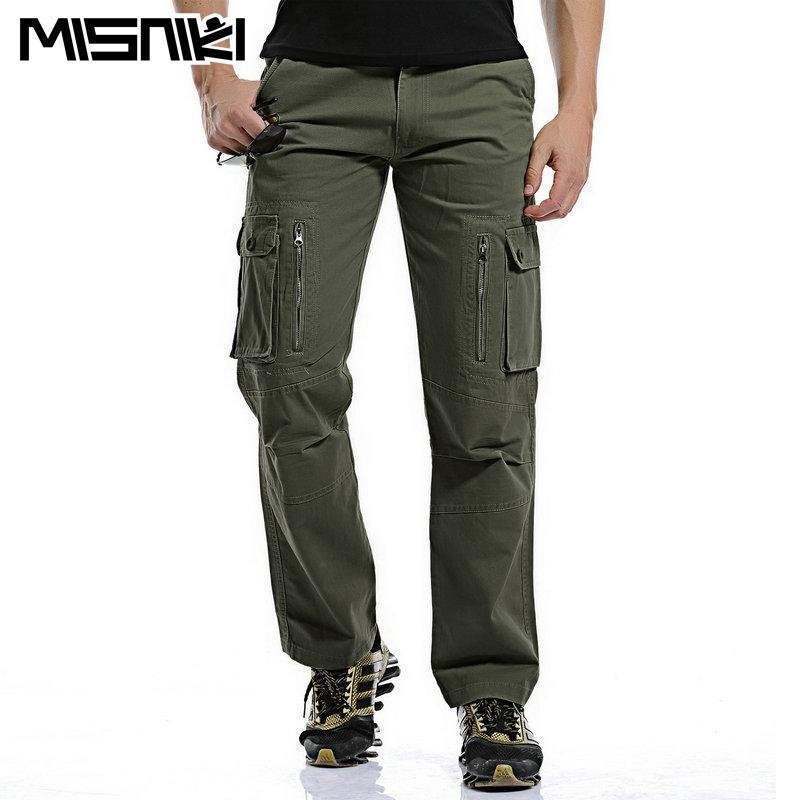 MISNIKI Good Quality Military Cargo Pants Men Hot Camouflage Cotton Men Trousers 7 Colors-Khaki-28-JadeMoghul Inc.