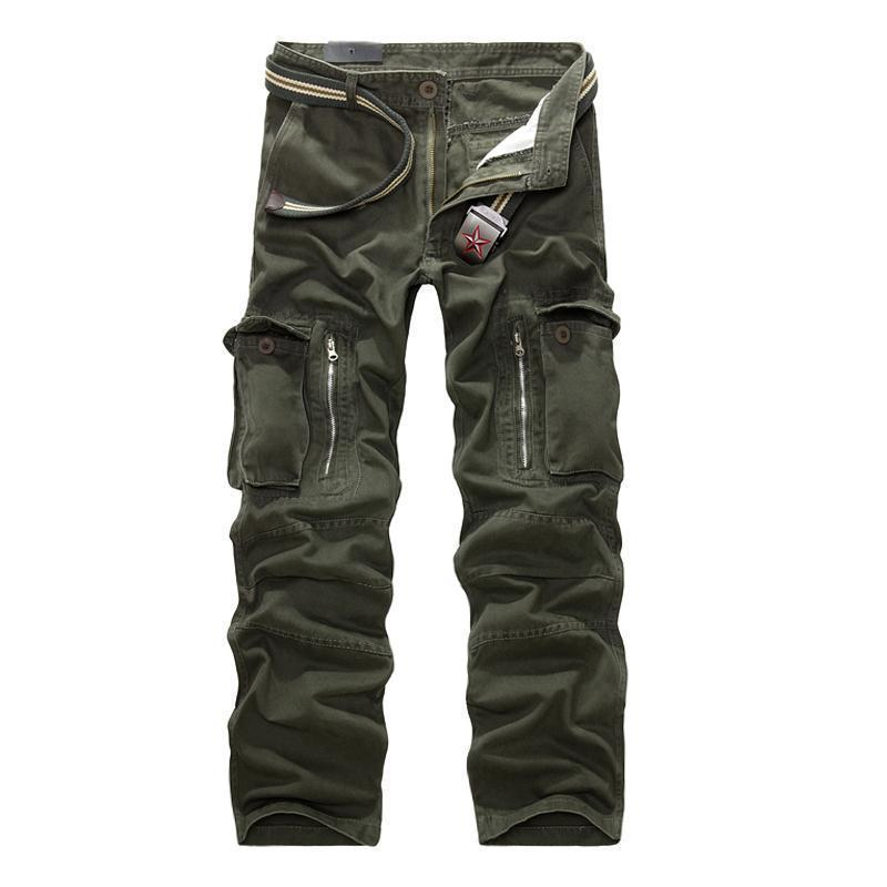 MISNIKI Good Quality Military Cargo Pants Men Hot Camouflage Cotton Men Trousers 7 Colors-olive-28-JadeMoghul Inc.