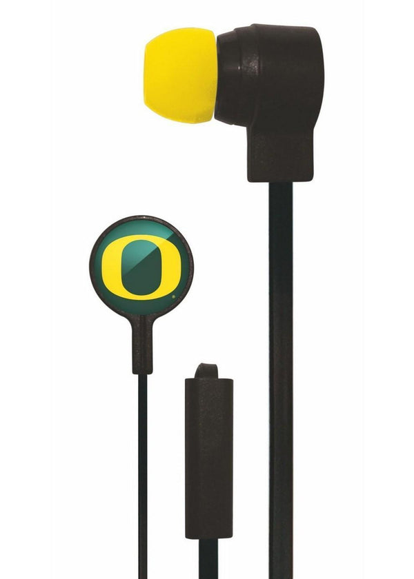 Mizco NCAA Oregon Ducks Big Logo black cord earbuds-All Other Sports-JadeMoghul Inc.