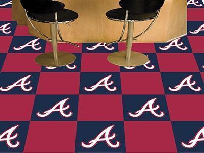 "MLB - Atlanta Braves 18""x18"" Carpet Tiles-Team Carpet Tiles-JadeMoghul Inc."