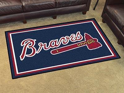MLB - Atlanta Braves 4'x6' Plush Rug-4x6 Rug-JadeMoghul Inc.