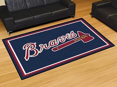 MLB - Atlanta Braves 5'x8' Plush Rug-5x8 Rug-JadeMoghul Inc.