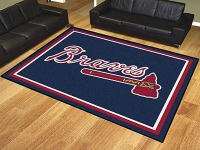 MLB - Atlanta Braves 8'x10' Plush Rug-8x10 Rug-JadeMoghul Inc.