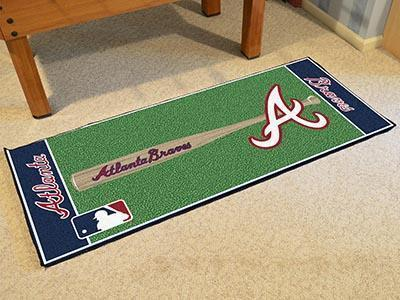 "MLB - Atlanta Braves Baseball Runner Mat 30""x72""-Baseball Runner-JadeMoghul Inc."