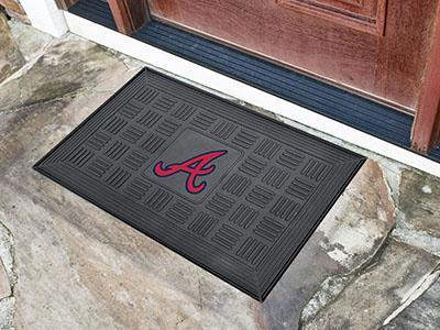 "MLB - Atlanta Braves Door Mat 19.5""x31.25""-Medallion Door Mat-JadeMoghul Inc."