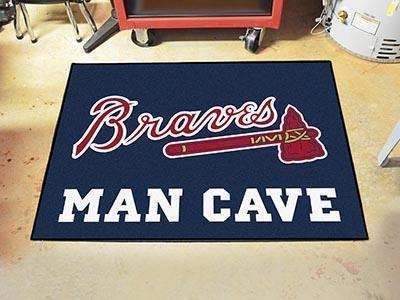 "MLB - Atlanta Braves Man Cave All-Star Mat 33.75""x42.5""-Man Cave All-Star-JadeMoghul Inc."