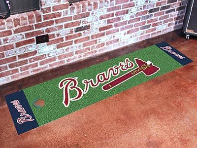 "MLB - Atlanta Braves Putting Green Runner 18""x72"" - Golf Accessory-Putting Green Mat-JadeMoghul Inc."