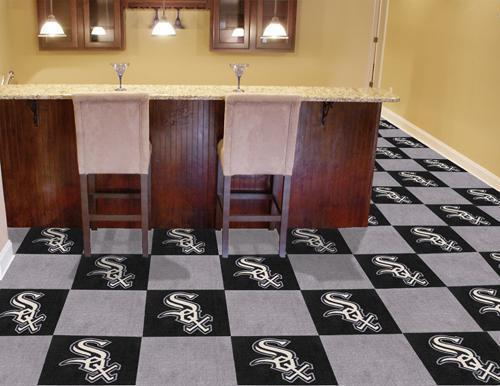 "MLB - Chicago White Sox 18""x18"" Carpet Tiles-Team Carpet Tiles-JadeMoghul Inc."