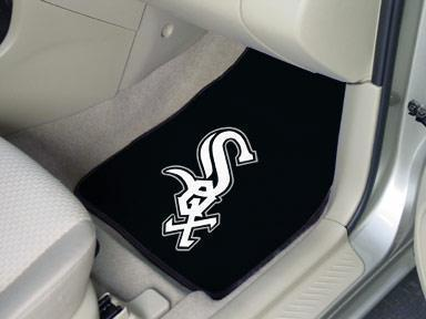 "MLB - Chicago White Sox 2-pc Carpeted Front Car Mats 17""x27""-2-pc Carpet Car Mat Set-JadeMoghul Inc."