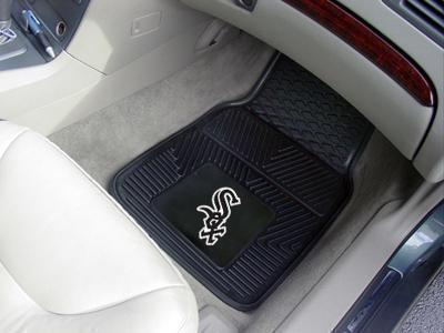 "MLB - Chicago White Sox 2-pc Vinyl Front Car Mats 17""x27""-2-pc Vinyl Car Mat Set-JadeMoghul Inc."