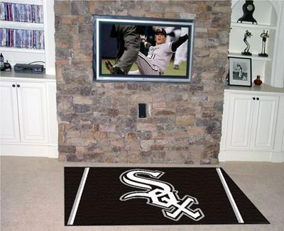 MLB - Chicago White Sox 4'x6' Plush Rug-4x6 Rug-JadeMoghul Inc.