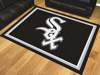 MLB - Chicago White Sox 8'x10' Plush Rug-8x10 Rug-JadeMoghul Inc.