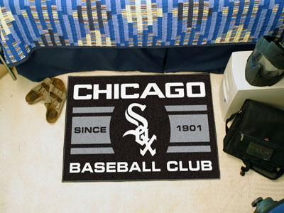 "MLB - Chicago White Sox Baseball Club Starter Rug 19""x30""-Starter Mat-JadeMoghul Inc."