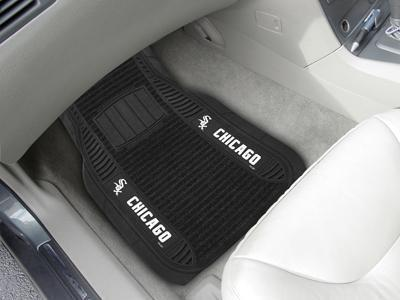 "MLB - Chicago White Sox Deluxe Mat 21""x27""-2-pc Deluxe Car Mat Set-JadeMoghul Inc."