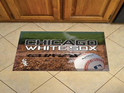 "MLB - Chicago White Sox Scraper Mat 19""x30"" - Ball-Scraper Mat-JadeMoghul Inc."