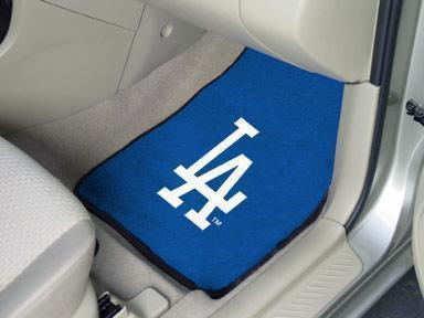 "Car Mats MLB Los Angeles Dodgers 2-pc Carpeted Front Car Mats 17""x27"""