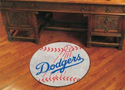 "Round Rugs For Sale MLB Los Angeles Dodgers Baseball Mat 27"" diameter"
