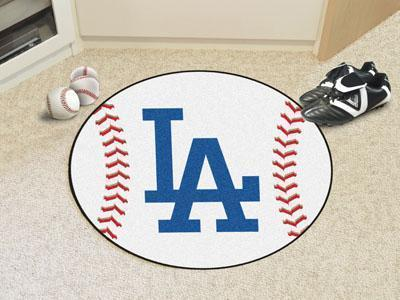 "Round Rugs For Sale MLB Los Angeles Dodgers 'LA' Baseball Mat 27"" diameter"