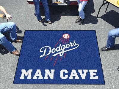 BBQ Store MLB Los Angeles Dodgers Man Cave Tailgater Rug 5'x6'