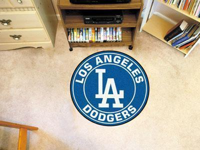 "Round Area Rugs MLB Los Angeles Dodgers Roundel Mat 27"" diameter"